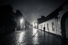 Time & Mystery Travel (Gilderic Photography) Tags: street travel house rain silhouette night lumix lights belgium belgique belgie time pluie panasonic bruges past maison rue nuit lumber gilderic lx3 dmclx3