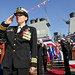 USS Benfold conducts a change of command ceremony.