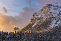 Fairview Mountain | Banff National Park, Alberta, Canada (f_desmet) Tags: park travel november trees winter lake snow canada mountains nature clouds sunrise canon landscape photography nationalpark alberta banff lakelouise banffnationalpark planetearth ourland fairviewmountain travelalberta ourplanet visitcanada visitalberta faithdesmet