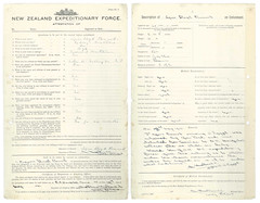 New Zealand Expeditionary Attestation Form (Archives New Zealand) Tags: archivesnewzealand archives archivesnz ww1 worldwarone worldwari greatwar greatwarstories wwi nz nzhistory 1915 agneslloydbennett war conflict