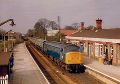 Cornishman at Camborne April 1977 (Chris Baines) Tags: bradford april 1025 1977 penzance camborne cornishman 1e62