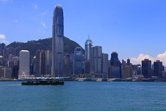Two classic...starferry and skyline (Davide C.77) Tags: blue sea sky water skyline hongkong harbor boat asia starferry