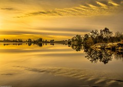 Golden hour.  (  Explored  ) (AlbOst) Tags: morning cold clouds reflections golden morninglight peaceful frosty calm explore tranquil lochs goldenhour morningsun scottishlochs lochrusky