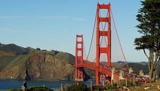 The stately Golden Gate Bridge