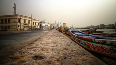 saint- louis senegal during sand storm