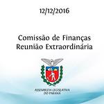 Comissão de Finanças Extraordinária 12/12/2016