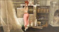 JustMeHidingInMyCorner3 (shirley Uborstein) Tags: female cute sexy shy blushing leggings redhead ginger freckles sl secondlife photography blog fashion arise blueberry collabor88 elysion reign teefy thewhitecrow truth labaguette