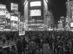 Tokyoites - Night ③ (Rob₊Lee) Tags: tokyo people crowd dymanic adulthomework tokyoites 大人の宿題 課題 task shibuya crossing shibuyacrossing order busy monochrome blackandwhite scramble