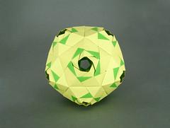 Coronis (masha_losk) Tags: kusudama кусудама origamiwork origamiart foliage origami paper paperfolding modularorigami unitorigami модульноеоригами оригами бумага folded symmetry design handmade art