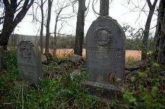 Arthur & Letitia (~ Lone Wadi ~) Tags: wallacefamilycemetery graveyard overgrown abandoned crittendencounty kentucky spooky lonesome headstones tombstones gravestones death burialground finalrestingplace