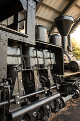 "The Three Cylinders on ""Peggy,"" a Lima Shay Geared Steam Locomotive (SN 2172) (scattered1) Tags: 1909 2015 2172 center classb ehraim ephraimshay limalocomotiveworks limashay or oregon portland shay shopnumber2172 truck washington washingtonpark world worldforestrycenter antique balloon classic cylinder engine forestry geared gearedsteamlocomotive historic history locomotive oil old park powerful rail rugged steam timber train trees wood"