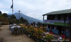 P1110010 Day-16 (20-Dec-2016) While having breakfast (8AM) see clouds over Mardi (ks_bluechip) Tags: nepal trek dec2016 annapurna abc mbc pothana australiancamp kande