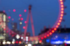 London Bokeh (Chris Sinfield) Tags: london uk england photography night thames river moody londoneye eye ferris wheel red lights