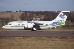 F-GLNI EDI 22-2-1998 (Plane Buddy) Tags: fglni bae 146 146200 airjet edinburgh egph
