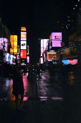 Times square (vivienne nikolaiko) Tags: newyork kodak 35mm film lights neon signs night