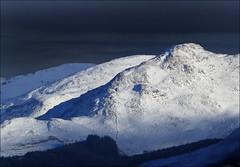 Beinn Sgurragh (McRusty) Tags: low light thunder clouds sun sunshine snow rock rocks shadow stratherrick highland scotland