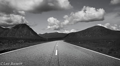 2/52 Road to the Mountains The A 82 (Leo Bissett) Tags: scotland glencoe mountains cloud road highway remote wilderness blackandwhite outdoor path