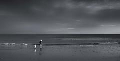 Together (Tilney Gardner) Tags: blackandwhite bw nikon dorset beach branksome clouds seascape