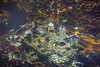 20170119_F0001: Aerial Canary Wharf at night (wfxue) Tags: london canarywharf financial centre bright buildings banks thames river roads night light city windowsit plane passengerplane passengerjet aerial landscape