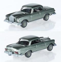 WIK-14s-MB250SE-silver (adrianz toyz) Tags: wiking germany plastic toy model car mercedes 187 scale ho mercedesbenz 250se 14s