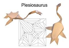 Plesiosaurus (Mdanger217) Tags: max danger origami plesiosaurus cp inkscape