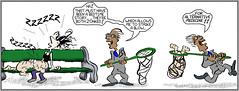 Ashcan Alley s6 #97 : An Easy Catch! (Weldon Alley) Tags: sleep bench mummy net catch medicine doctor prey steal swipe kidnap comic