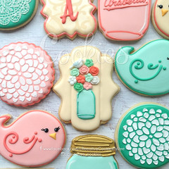 CountryMasonCenter (cREEative_Cookies) Tags: baby shower babyshower cookies harry potter elephant chic birds mason jar lace delicate flower sports its boy girl blessed baptism crib teddy bear kokeshi dolls sunshine clouds happy flowers girly boyish sugar edible art theme custom royal icing baked adorable roses daisies fondant booties shoes onesies bibs personalized sugarveil