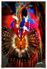 """Native Dancer"" (""SnapDecisions"" photography) Tags: wak powwow native indian dance tucson arizona nikon d800 hirschfeld brushstroke"