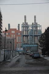 EC-1 heating plant complex , Łódź 15.02.2017 (szogun000) Tags: łódź poland polska city cityscape building architecture old industrial industry heatingplant structure installation complex smokestacks urban snow winter łódzkie canon canoneos550d canonefs18135mmf3556is