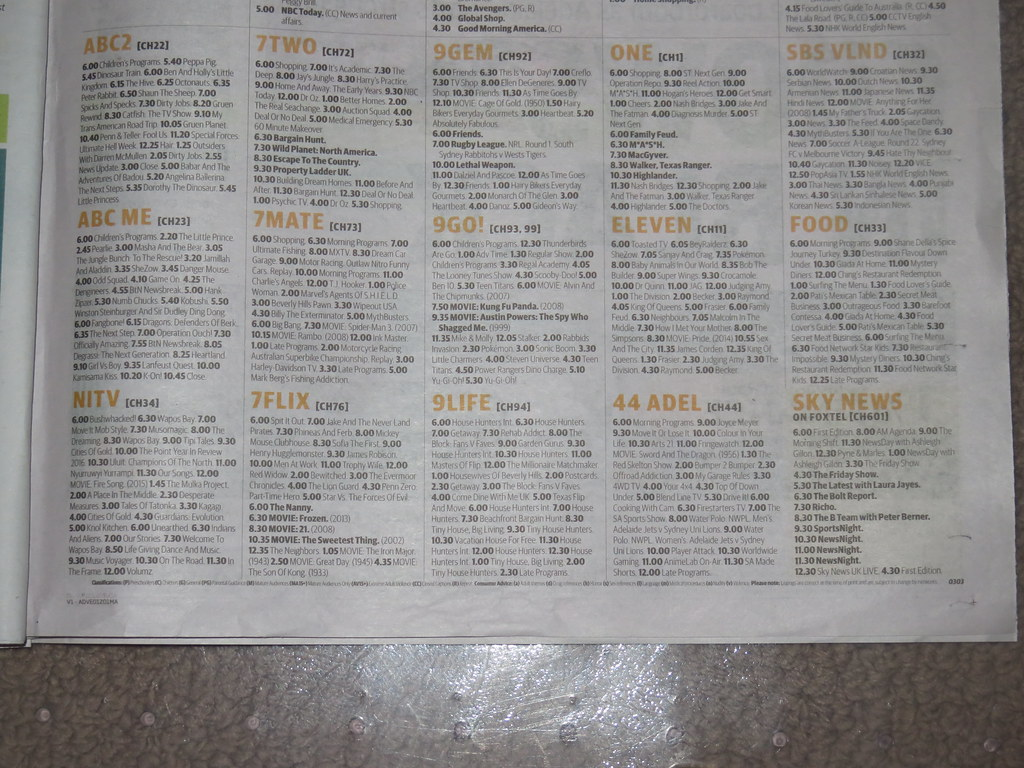 Weekly tv guide melbourne.