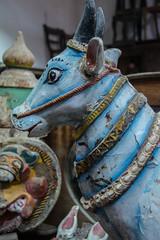 Painted Cow Statue, Ambalangoda, Sri Lanka (Peter Cook UK) Tags: ambalangoda lanka southern shop cow painted antiques sri statue hindu