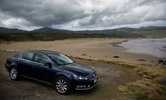 a place of memories (Keith Midson) Tags: cloudybay tasmania vw passat car beach brunyisland bay ocean sea clouds cloud volkswagen memories