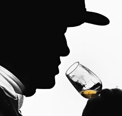 The Spirit (Andy J Newman) Tags: d500 silhouette man jump silverefex candid hunt nikon profile alcohol gloucestershire colourise drink colorise portrait beaufort cotswolddistrict england unitedkingdom gb