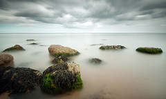 Cayton Bay (djshoo) Tags: sea summer beach coast rocks tide shoreline le shore scarborough 2015