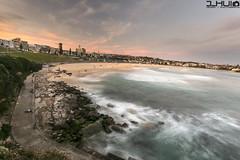 IMG_0976 (Joseph Hui (J_HUI)) Tags: ocean longexposure people cloud sun beach water bondi canon landscape sand rocks sydney 1740 6d tamarama jhui