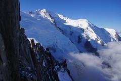 Aguille du Midi and Mont Blanc (Jungle_Boy) Tags: travel white snow france mountains nature landscape europe view peak chamonix montblanc dayoff 2015 chamonixmontblanc aguilledumidi