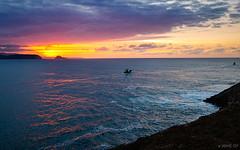 Saliendo de pesca (Jaime GF) Tags: sunset sea boats mar spain nikon barcos asturias anochecer gozn d40 nieva pesqueros