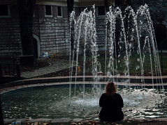 some of us are alone (sukorkmaz) Tags: park girls woman water forest canon turkey alone istanbul lonely 70d