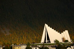 Arctic Cathedral (owilybug) Tags: lighting travel autumn norway canon arctic canon5d nordic scandinavia tromso arcticcathedral