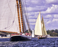 Rounding The Pylon 1 (joegeraci364) Tags: ocean new wood sea england cloud seascape heritage nature water beauty weather festival race landscape outdoors boat marine ship oliver action yacht outdoor antique connecticut mary craft vessel columbia atlantic maritime e when boating if sail and mast nautical perry brilliant amistad hazard mystic whaler defiance roann