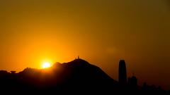 Victoria Peak Sunset (Keith Mulcahy) Tags: sunset sun architecture clouds buildings hongkong kaitak longexposures cloudsstormssunsetssunrises canon1dx kaitakcruiseterminal keithmulcahy december2014