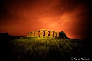 Stonehenge at midnight in color infrared, Washington.