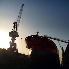 In DryDock at ASRY yard Bahrain (Gunnar Eide) Tags: square maritime squareformat odfjell iphoneography instagramapp uploaded:by=instagram