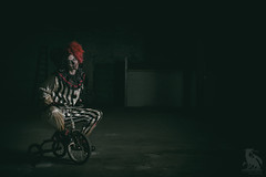 Here Comes Kandy (CJ Schmit) Tags: wisconsin canon concrete industrial factory steel tricycle creepy horror clowns julieanne scarry nightmares racine octo 2015 klowns canonef50mmf18ii alienbeeb800 niksoftware canon5dmarkiii cjschmit 5dmarkiii wwwcjschmitcom cjschmitphotography nikanalogefexpro2 softboxpocket fotodioxprostudio60 kandyklown nicholehaagensen wizardshelloweenhalloweenhelloween