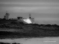 Porthcawl 2015 11 11 #15 (Gareth Lovering Photography 5,000,061) Tags: sea lighthouse wales landscape town seaside sand rocks olympus bridgend porthcawl lovering 714mm 1240mm