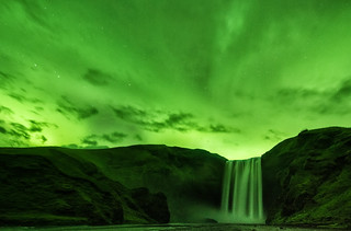When Skógafoss Turned Green