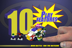 Batman: Mini Battle for the Batcave (Brickadier General) Tags: robin project miniature dc batcave play lego wayne mini harley batman quinn joker features superheroes manor collaborative batmobile ideas playset batwing batboat microscale playable