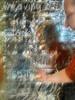 """Writing the title of the project with titanium white oil stick on the mirror background """"weaving 365 days diary tapestry, tapestry diary"""" Titel in titan weiß auf den Spiegel Hintergrund schreiben """"365 Tag(e weben Tagebuch Teppich Tapisserie Tagebuch)"""" (hedbavny) Tags: vienna wien door blue shadow orange white selfportrait kitchen face writing austria mirror österreich gesicht hand spiegel linie diary text tapis envelope oil letter küche weaver title blau titan heading schrift schatten blanc weave tagebuch selbstportrait tür bau weber raster tapestry huile teppich untergrund öl schreiben hintergrund selfie titel hausbau analogie überschrift tapisserie nachbarschaft handschrift weis falte ölfarbe wandteppich weben oilstick kuvert hülle titaniumwhite zittern bildwirkerei bildteppich teppichweber hedbavny ingridhedbavny unterlegung zeitlicheabfolge huilesolide grafologie blancdetitane"""
