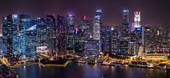 Singapore´s Skyline (Rafavet) Tags: skyline luces arquitectura singapore cityscape nocturna singapur rascacielos panorámica