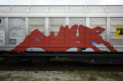 aris (.aris) Tags: graffiti trash freighttrain freight train red silver santa claus saint stephen punk aris art street